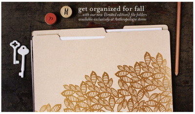 Oh Joy! Congrats on your Woodcut Floral File Folders for Anthropologie