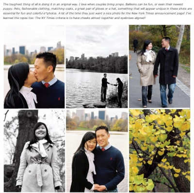 Central Park Engagement on Style Me Pretty