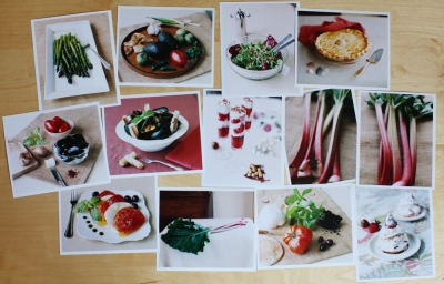Cookbook Prints on my Table