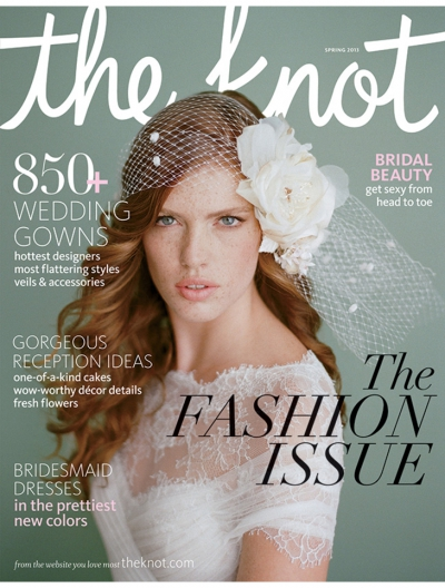 Style Stalker: Karen Wise's Wedding Portrait in The Knot Magazine!