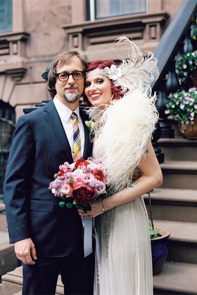 Flapper Style Brooklyn Wedding