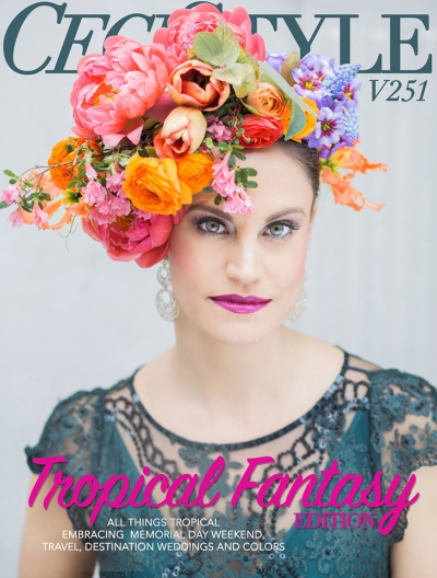 Tropical Floral Inspired Cover Story for Ceci Style