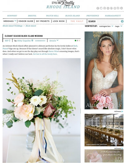 Block Island Wedding on Style Me Pretty!
