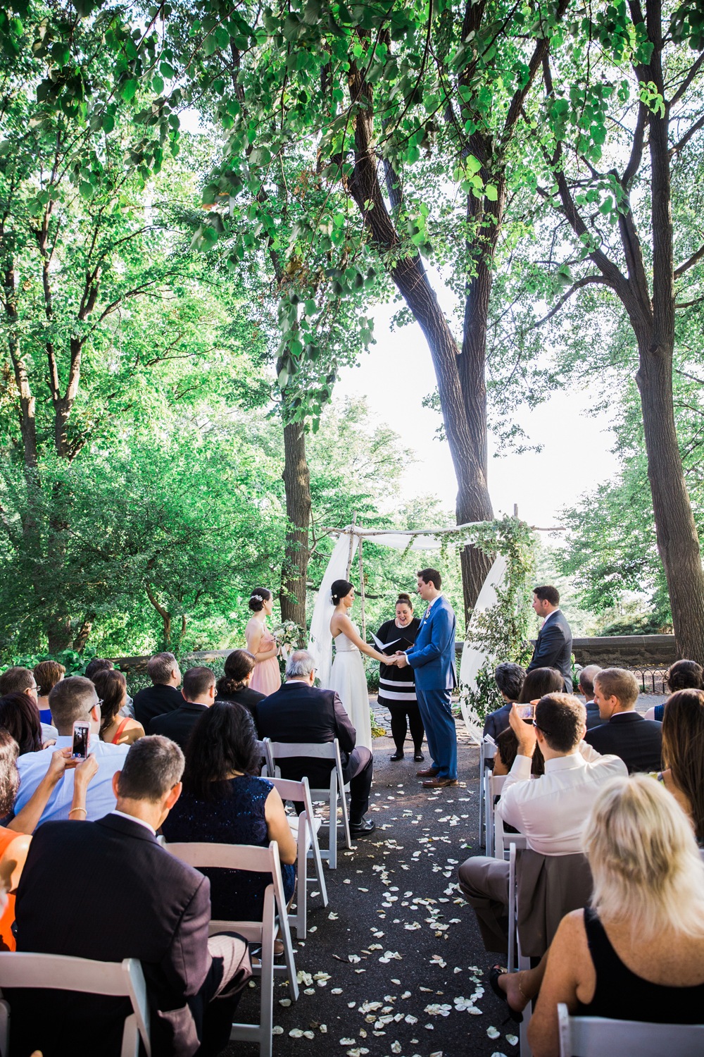 Fort Tryon Park and New Leaf Restaurant Wedding