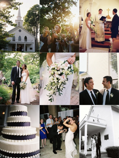 Dana and Ron's Purple and White Wedding