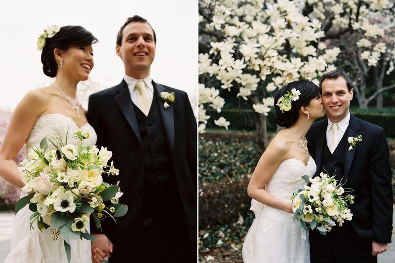 Brooklyn Botanic Garden Wedding with Flowers by Saipua