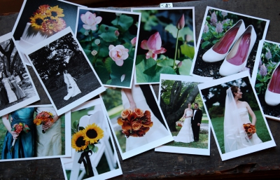 Collage of Patty & Tim's Wedding Proof Prints