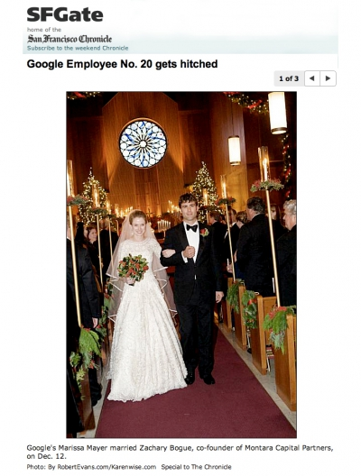 Marissa Mayer and Zack Bogue's Wedding