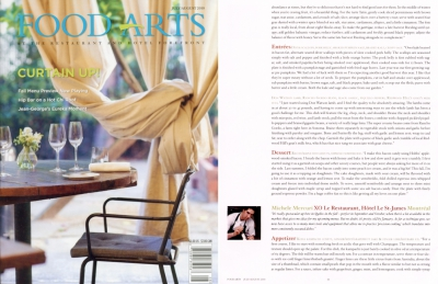 Published in Food Arts