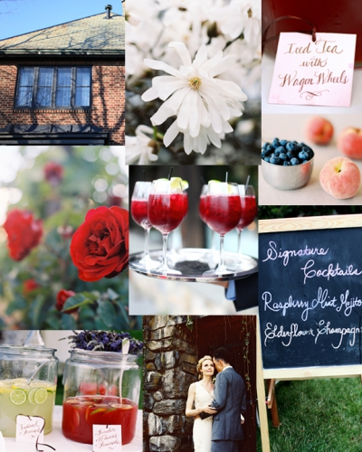 Inspiration Board II: Brick, Stone, Peaches and Crimson