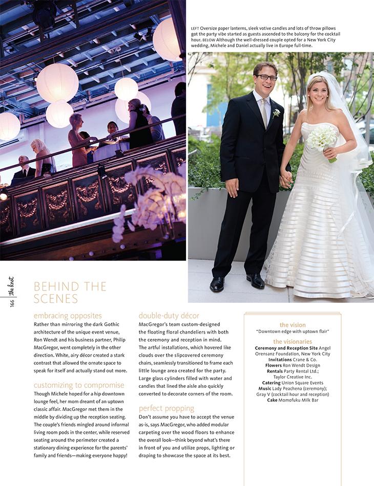 Karen Wise - Angel Orensanz Wedding