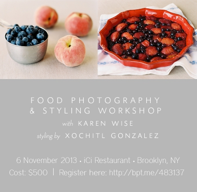 Upcoming Food Photography & Styling Workshop!