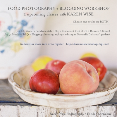 Karen Wise Food Photography + Blogging Workshop