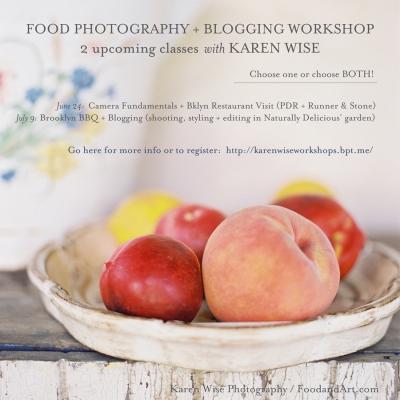 Karen Wise Food Photography + Blogging Workshop